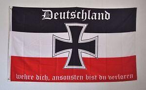 FAHNE FLAGGE 3943 DEUTSCHLAND WEHRE DICH SCHWARZ WEISS ROT