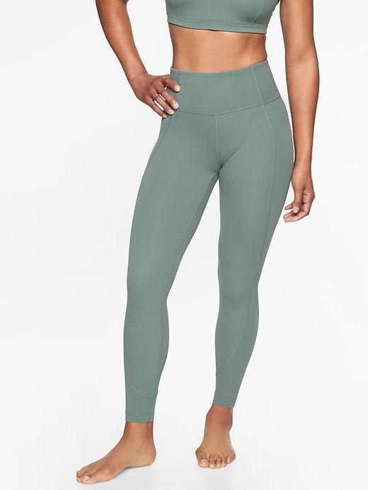 025ae50fe80a7 Athleta Salutation 7 8 Tight In Powervita in in in Oxidized Green, XL,  Legging Yoga 6d2549