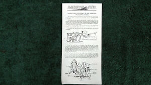 AMERICAN FLYER M2882 OPERATING # 566 WHISTLE BILLBOARD INSTRUCTION PHOTOCOPY