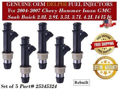 OEM Delphi 6x Refurbished Fuel Injectors P#25313185 Buick Rainier 2004 4.2L I6