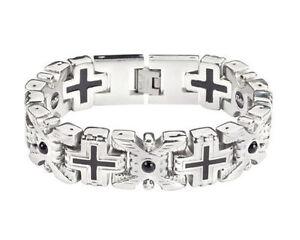 Christian Cross Black Stone Bracelet Prophet Messianic Jewish Jesus