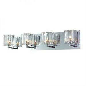 Modern Vanity Lighting Chrome : Elegant Crystal 4-Light Wall Fixture Bathroom Vanity Lighting Modern Lamp Chrome eBay