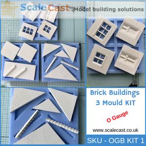 Ambitieux O Gauge Brick Buildings 3 Mould Kit For O Scale Model Railway Buildings Ogbkit-1 En Voyageant
