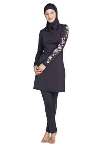 Neu Damen Muslim Islamisch Bademode Voll Hülle Badeanzug Burkini Strandkleidung