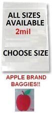 100 Pack Apple Brand 2mil Clear Ziplock Bags Baggies Resealable Plastic Mini Usa