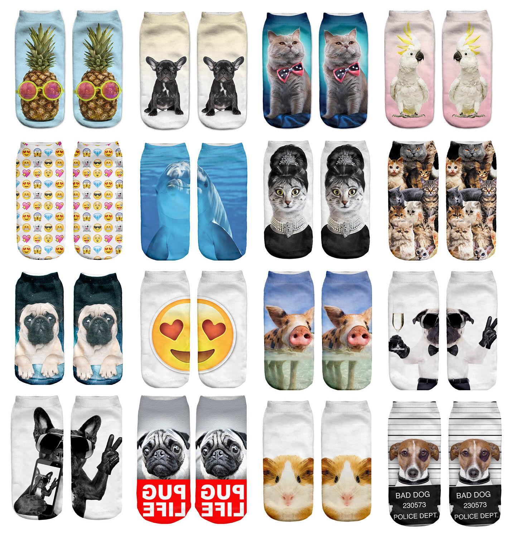 Mens Athletic Low Cut Ankle Sock Cute Cartoon Giraffe2 Short Fit Sock