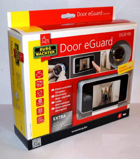 "Burg Wächter Door eGuard DG8100 elektronischer Türspion Sicherheit 3,2/"" Display"