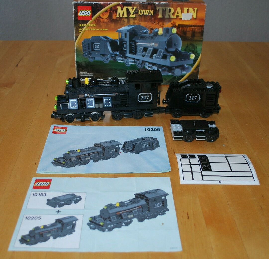 Lego Railway 10205 My Own Train Steam Locomotive with Tender  + 10153 Motor OBA-Boxed -100%  les clients d'abord