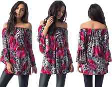 1ee8e06a24b item 4 Womens Off The Shoulder Floral Bardot Boho Bell Sleeve Party Tunic  Top 12-16 -Womens Off The Shoulder Floral Bardot Boho Bell Sleeve Party  Tunic Top ...