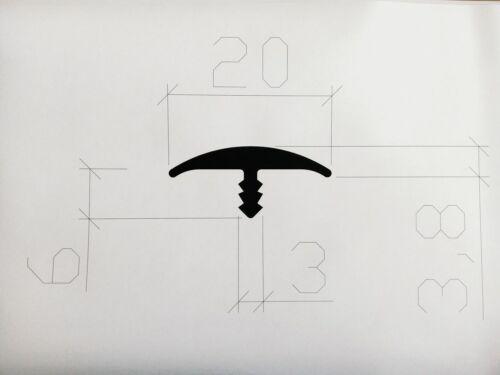 für 19mm Plattenmaterial PVC rot RAL 3000 20mm breit T-Molding Stegkante