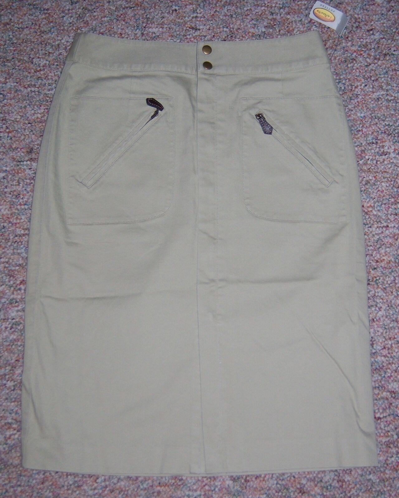 TALBOTS Tan A-Line Long Below the Knee Dress Skirt Size 6P