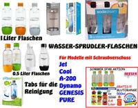 SODA CLUB Cool PET Flasche Sprudlerflasche  0,5+1 Liter  Reinigungstabs SIGG