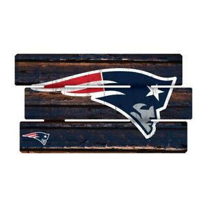 New-England-Patriots-Defense-Holzschild-XL-63-cm-NFL-Football-Fence-Sign