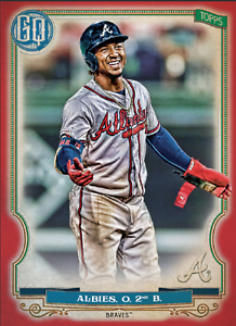 2020 Topps BUNT Ozzie Albies Gypsy Queen RED Base ICONIC! [DIGITAL CARD}