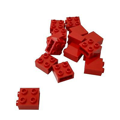 Lego 5 New Red Bricks Modified 1 x 2 with Studs on 1 Side