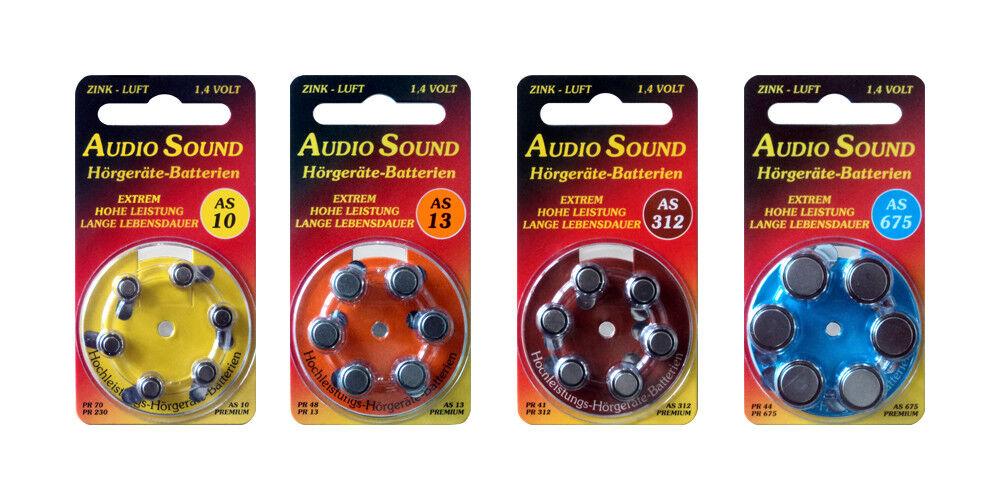 Audio Sound Hörgerätebatterien ZL 10, ZL 13, ZL 312, ZL 675 | Üppiges Design