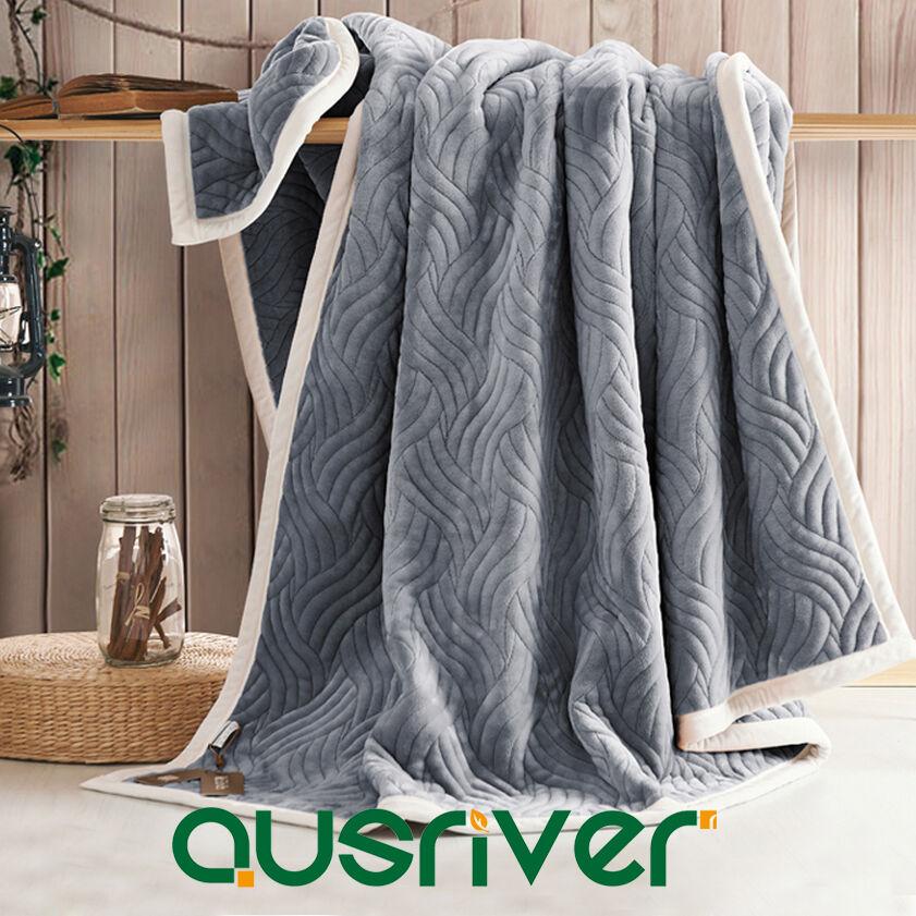 Premium Blanket Plush Super Soft Flannel Fabric Quilt Sofa Bed Chair Throw