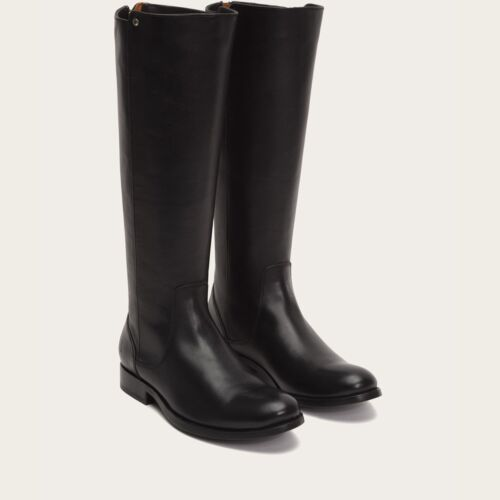 Women/'s FRYE BOOTS Melissa Stud Back Zip BLACK 3475436-BLK