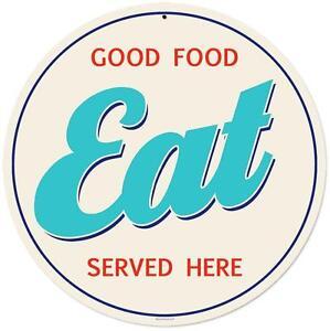 Details about Vintage Retro Food Eat Here Metal Sign Unique Diner Kitchen  Restaurant Decor RPC