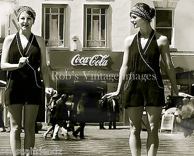 Roaring 1920s Flapper Girl/'s photo by Coca Cola Advertising Sign