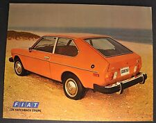 1978 Fiat 128 Hatchback Coupe Sales Brochure Sheet Excellent Original 78