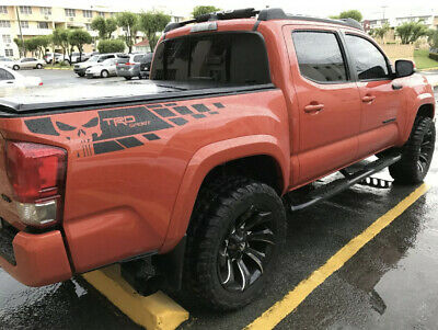 2X Toyota Tacoma TRD Sport Scull side bed Vinyl Decals graphics rally sticker