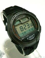 New Casio Men's W734-1AV 5 Alarms Lap memory 60 Digital Sport Resin band Watches