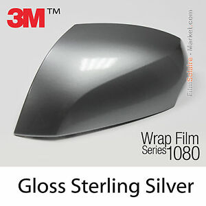 10x20cm film gloss sterling silver 3m 1080 g251 vinyl covering top car wrapping ebay. Black Bedroom Furniture Sets. Home Design Ideas