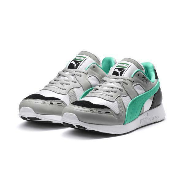 new style 4769a 55bef Mens Puma RS-100 Re-Invention Grey Violet Biscay Biscay Biscay Green White  367913