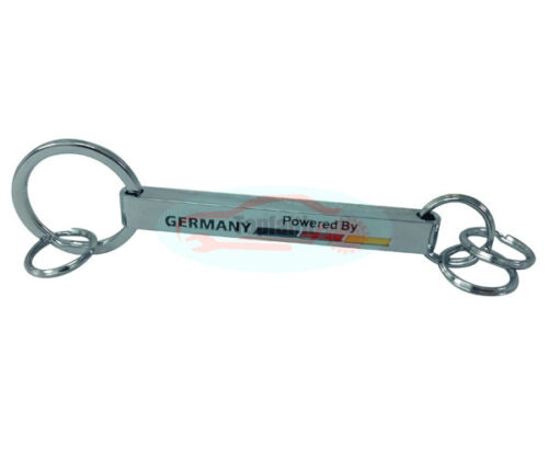 Luxury Car Keychain Key Chain Ring Chrome Germany Powered By Mercedes Benz AMG