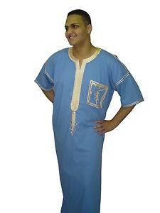 a586697bd9492e Das Bild wird geladen Herren-Kaftan-Tunika-Kleid-Hauskleid-Araber -Scheich-Kostuem-