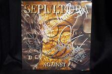SEPULTURA AGAINST SIGNED LP BY ALL 4 MEMBERS. DERRICK GREEN IGOR CAVALERA