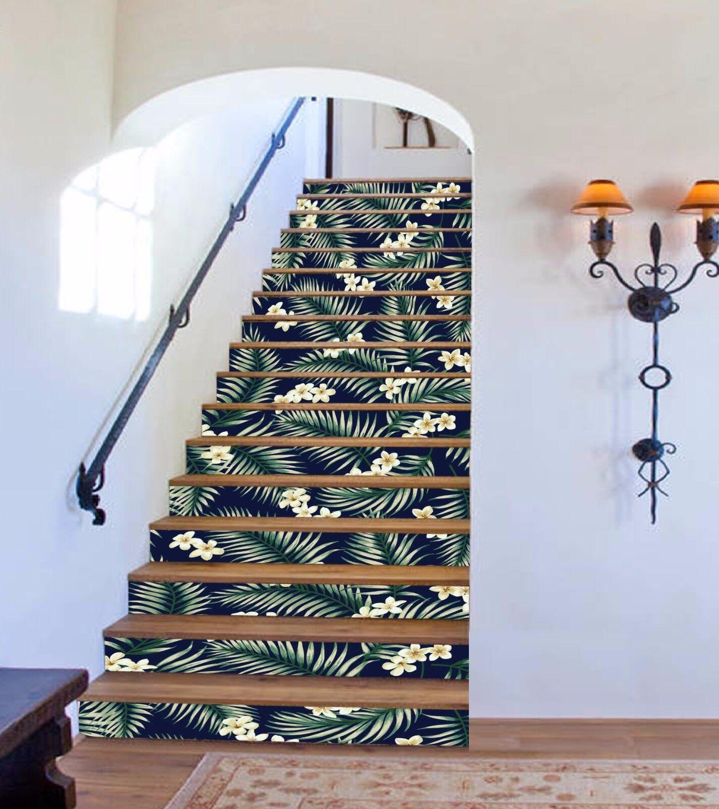 3D Blume Blatt 9313 Stair Risers Dekoration Fototapete Vinyl Aufkleber Tapete DE