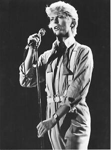 Photographie-de-concert-David-Bowie-Noir-et-blanc-Tirage-argentique-039-80