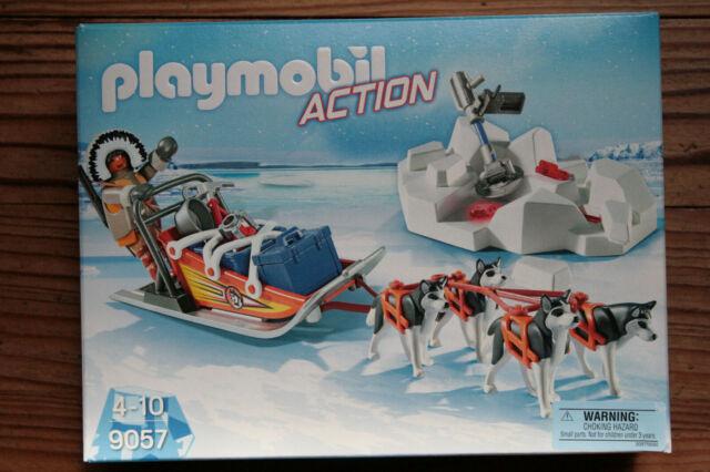 Playmobil Action Explorateur avec chiens de traîneau 9057