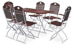 Biergartengarnitur-1x-Tisch-120x70-cm-4x-Stuehle-2x-Sessel-kastanie-verzinkt