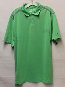 Men 39 s nike golf pga tour performance short sleeve polo for Mens lime green polo shirt