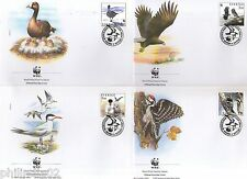 Sweden 1994 WWF Birds of Sweden Fauna Wildlife Animal Sc 2097-2100 Set of 4 FDC