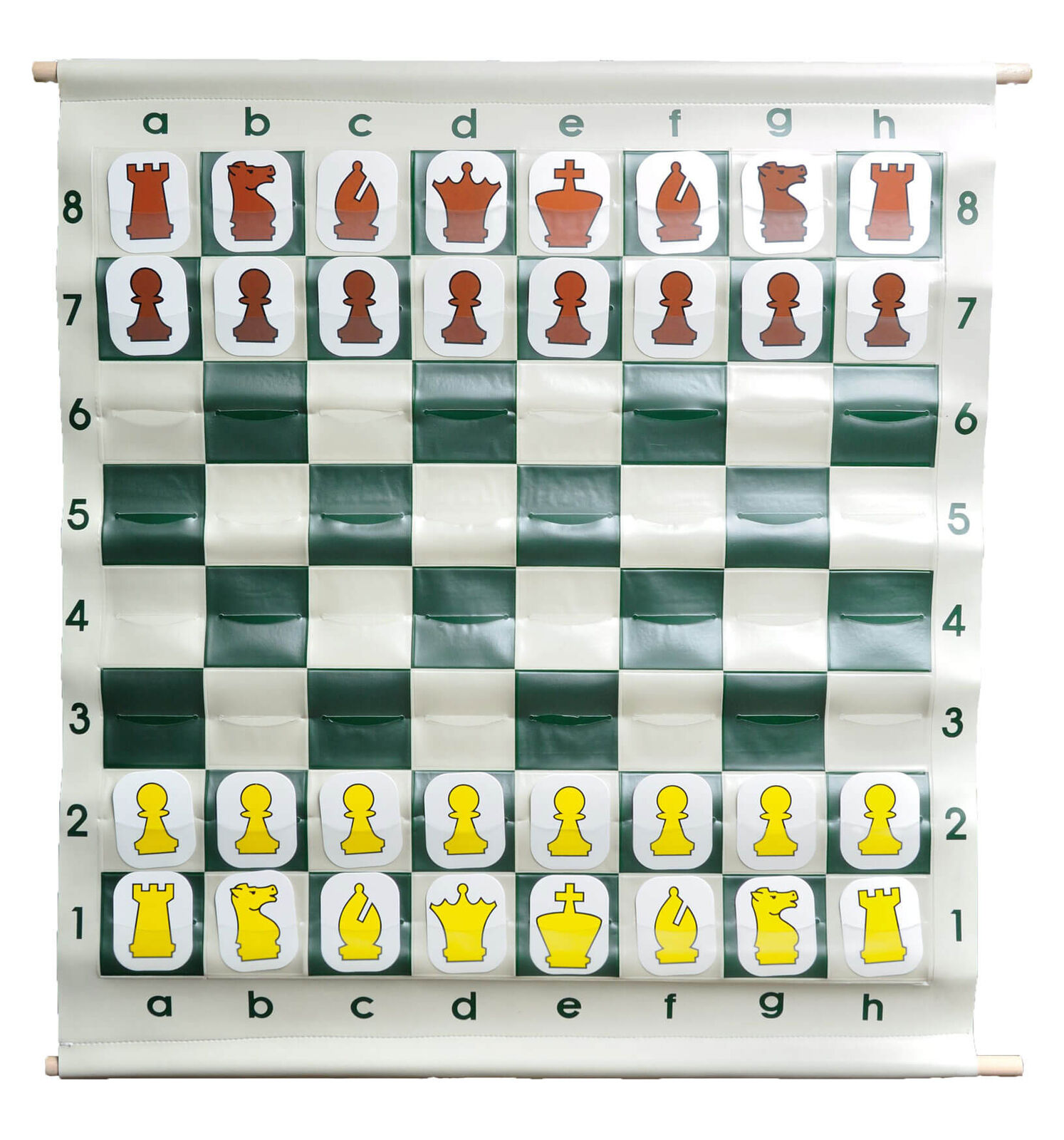 Verde - 36  Pouch-Style Chess Demonstration Set with Deluxe Carrying Borsa - bianca
