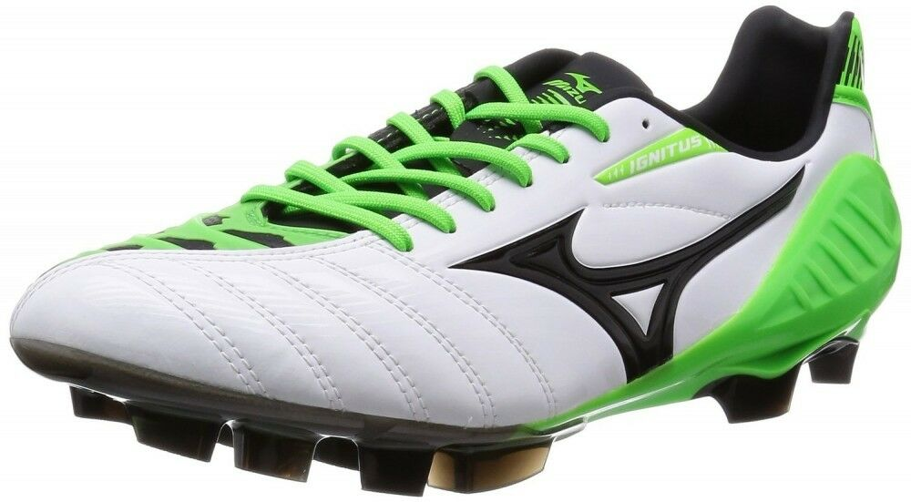 Zapatos de fútbol de Mizuno Spike Ignitus 3 SL P1GA1531 blancoo X Negro verde X US7.5