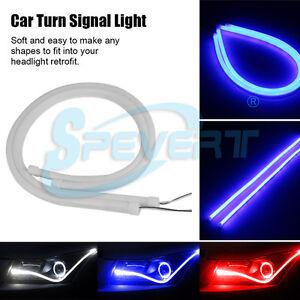 2x 60cm tubo flessibile faro anteriore striscia luce di for Tubo flessibile a led