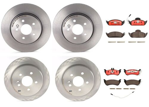 Front and Rear Brembo Full Brake Kit Disc Rotors Ceramic Pads For Mercedes W163