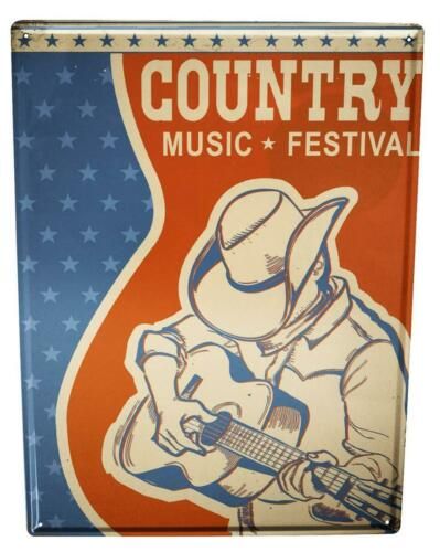 Blechschild Star Country Music Festival
