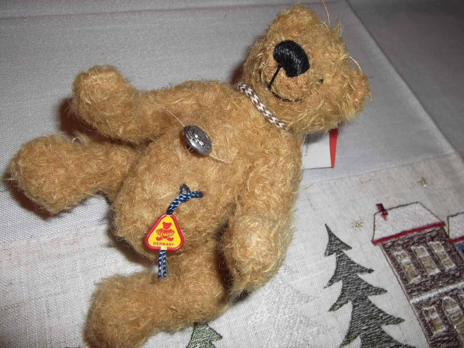 Clemens-Teddy con certificato, piena movibile, circa 15 cm, pezzo di vetrina