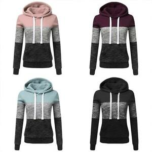 Women-039-s-Hoodie-Sweatshirt-Hooded-Sweater-Coat-Pullover-Long-Sleeve-Jumper-Tops