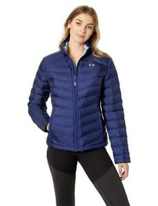 NEW UNDER ARMOUR ISO DOWN JACKET Blue Women's Winter Puffer S-L-XL UA 1316024