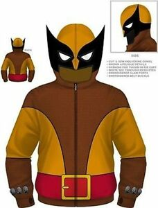 X Loup Marvel Sweat Comics Capuche Marron men Authentique Costume Wolverine wFxHIqIgpR