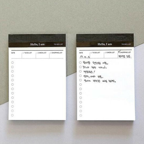 Office Daily Planner Memo Pad Message Sticky Notes Self Adhesive Schedule N7