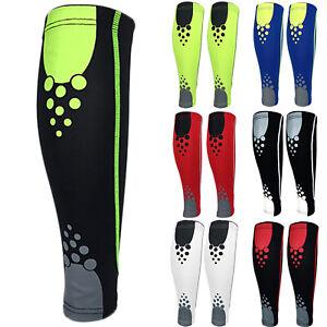 Calf-Leg-Compression-Sleeve-Socks-Shin-Splint-Support-Brace-Sports-For-Running