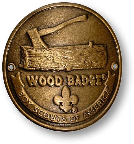 WOOD BADGE BRONZE ANTIQUE  WOOD BADGE HIKING MEDALLION WOODBADGE
